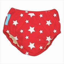 2-in-1 Swim Diapers  & Training Pants  – Red Stars