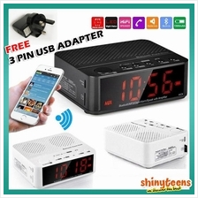 Bluetooth Wireless Speaker with Alarm Snooze Clock FM SD Card AUX In