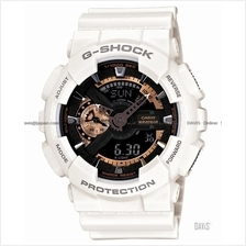 CASIO GA-110RG-7A G-SHOCK Ana-Digi rose gold resin strap white LE