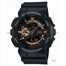 CASIO GA-110RG-1A G-SHOCK Ana-Digi rose gold resin strap black LE