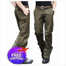 Army Fashion Men Multi Pockets Outdoor Camping Long Trouser Pants)