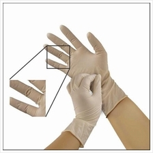 Safety Disposable Glove Latex Powdered, S,M,L Size, 100pcs/box