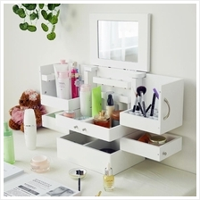 Makeup Organizer Cabinet Multiple Drawers Beauty Tabletop Display