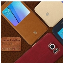 Original Baseus Galaxy Note 5 Terse Series Leather View Case Cover