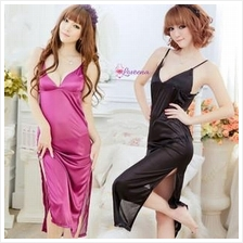 Ice Silk Sexy Long Dress Lingerie L2072 (2 Colours)