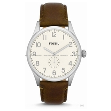 FOSSIL FS4851 Men's Analogue Agent Small Second Leather Strap Brown