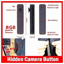 HY900 BUTTON SPY PINHOLE BUILT-IN 8GB CAMERA / CAMCORDER DVR DV RECORD