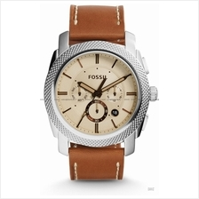 FOSSIL FS5131 Men's Machine Chronograph Leather Strap Light Brown