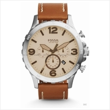FOSSIL JR1503 Men's Nate Chronograph Leather Strap Light Brown