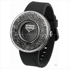 LEVI'S TIME LTH0506 CORE analog watch swarovski silicone strap black