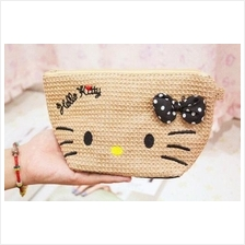 Hello Kitty Straw Bag 2015 ~ cosmetic bag