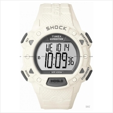 TIMEX T49899 (M) Expedition Shock Resistant resin strap white