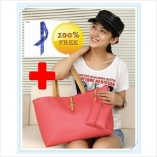 [InStyle]Shoulder Shopper Tote Bag with Coin Purse & Free Twilly Scarf