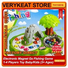 Electronic Magnet Go Fishing Game 1-4 Players Toy Baby/Kids (3+ Ages)