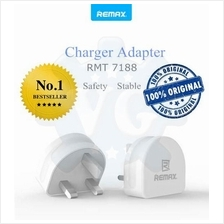 Remax Dual Triple USB Wall Charger 3 Pin Moon 3.1A Smartphone/Tablet