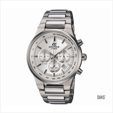 CASIO EF-500BP-7AV EDIFICE stopwatch SS bracelet watch silver *Match*