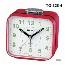 CASIO TQ-328-4 bedside alarm w/ snooze luminous marks clock red