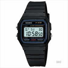 CASIO F-91W-1 STANDARD 'Forever Historic Icon' resin strap black