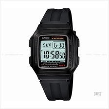 CASIO F-201WA-1A STANDARD multi-alarms LED 10 yrs resin strap black