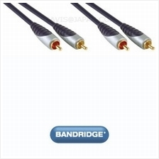 Bandridge Premium SAL4202 2 x RCA M - 2 x RCA M 2.0m interconnect