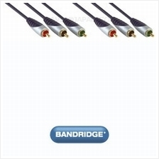 Bandridge Premium SVL3302 3x RCA M - 3x RCA M 2.0m interconnect