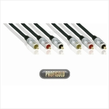 PROFIGOLD PRO PGV5302 1.5m/4.9ft 3xRCA Male - 3xRCA Male interconnect