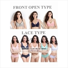 Wireless Lace / Front Open Maternity Breastfeeding Nursing Bra