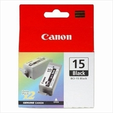 Canon BCI-15 BK Black Ink (Genuine) BCI15BK iP90 iP90v i70 i80