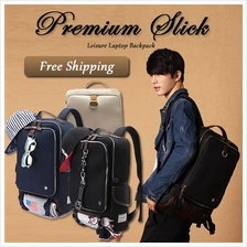 Premium Slick Leisure Laptop Notebook Travel Backpack Bag Korean Style
