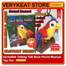 Incredible Talking Talk Back Parrot Musical Battery Operated Toy Fun
