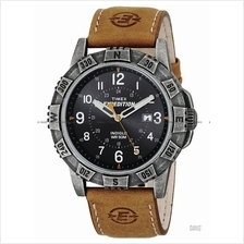 TIMEX T49991 (M) Expedition Rugged Metal Field leather strap black tan