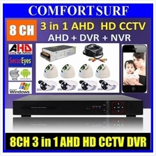 New 3in1 AHD 1.3M pixel 8 Channel AHD + DVR + NVR CCTV P2P Smartphone