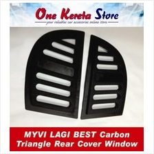 Myvi Lagi Best Carbon Triangle Mirror Panel Rear Side Window Cover
