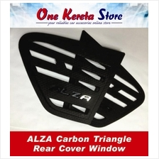 Perodua Alza Carbon Triangle Mirror Panel Rear Side Window Cover