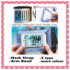 Smart Phone Waterproof Bag Case w Armband Neck Strap - Big Size