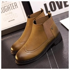 JF S-139 Europe Fashion Flat Casual Martin Boots - 2 Colors