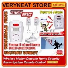 Wireless Motion Detector Home Security Alarm System Remote Control