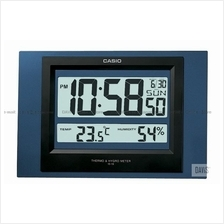CASIO ID-16S-2 digital auto calendar thermo hygrometer wall clock blue