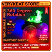 Remote Control RC Stunt Car Racer Battery Operated Gift Toy for Kids