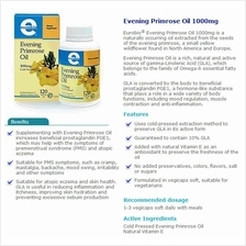 Euro Bio EPO Evening Primrose Oil 240Caps (Health+Immune)