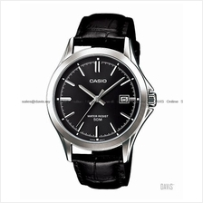 CASIO MTP-1380L-1AV STANDARD Analog classic date leather strap black