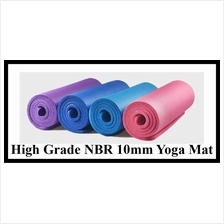 Non-Slip High Grade NBR 10mm Yoga Mat Gym Exercise Mat 183*61CM