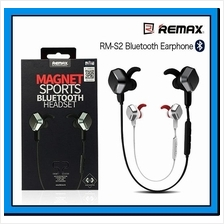REMAX S2 Unique Magnet Headset Wireless Sports Bluetooth 4.1 Earphone