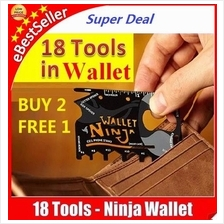 Offer.. Ninja Wallet 18 in 1 Multi Purpose Pocket Credit Card Size