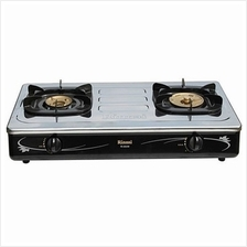 RINNAI 2 BURNER STAINLESS STEEL TABLE STOVE RI-602M