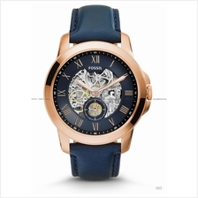FOSSIL ME3054 Men's Analogue Grant Automatic Leather Strap Navy