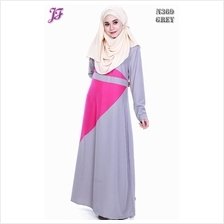 Eliza Color Block Jubah N369