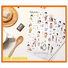 'Sweety Girl Heeda' Sticker - Zakka/Diary/Photobook DIY
