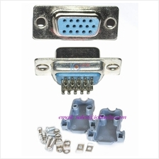 D-Sub VGA Female Connector High quality Set with cover