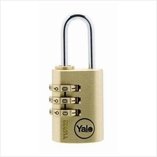 YALE 22mm Brass Resettable Padlock With Steel Shackle Y150/22/120/1